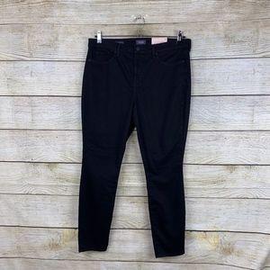 NEW NYDJ Ami Skinny Ankle Black Stretchy Jeans 14